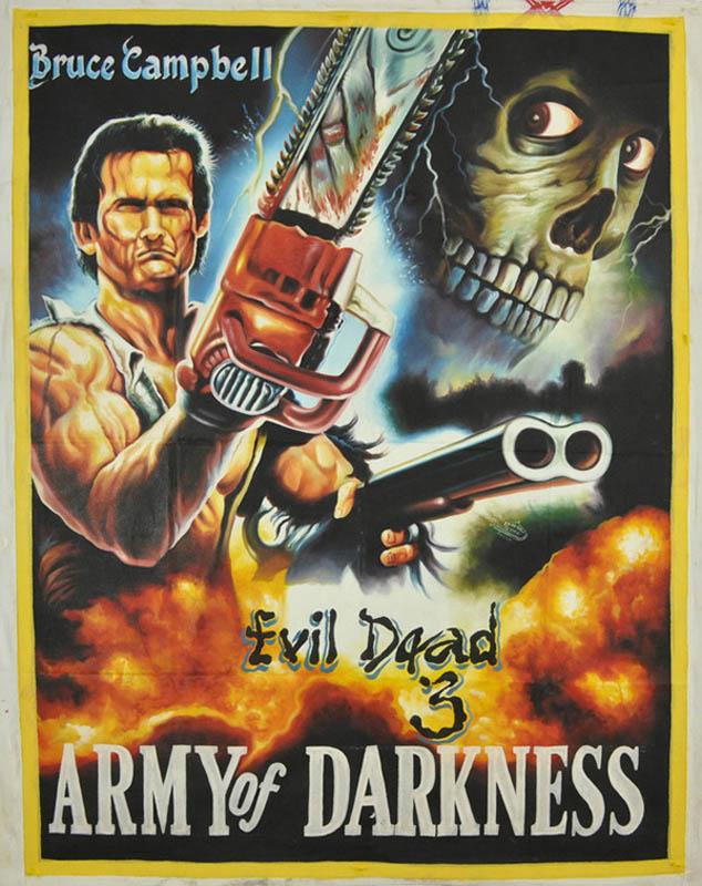 evil deade 3 Bootleg Movie Posters from Ghana