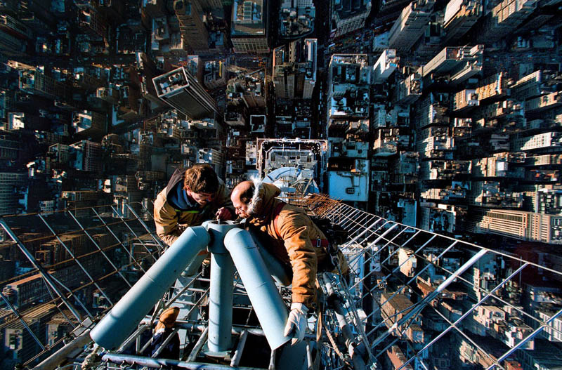 fixing antenna empire state building instant vertigo Picture of the Day: Instant Vertigo