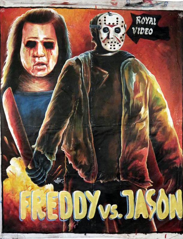 freddy vs jason Bootleg Movie Posters from Ghana