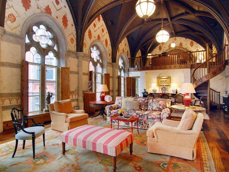 Stunning French Chateau On Central Park 20 Pics