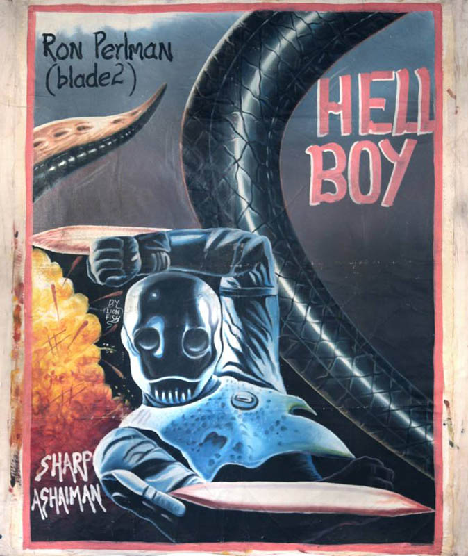 hellboy Bootleg Movie Posters from Ghana