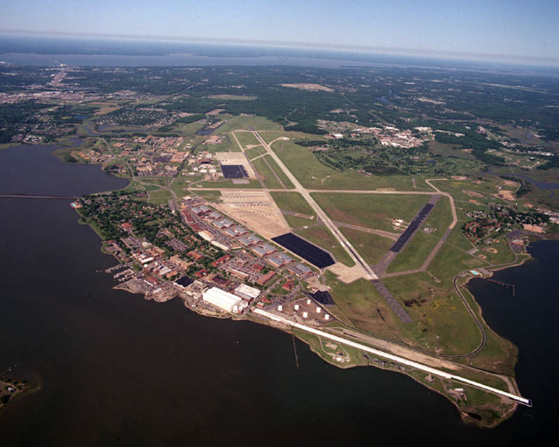 langley afb 16 U.S. Air Force Bases and Naval Stations From Above