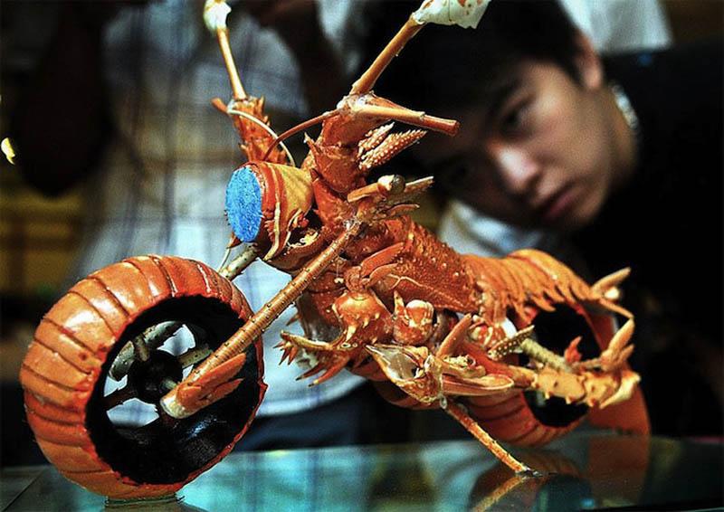 Lighter Art Motorcycle Lobster Shell Motorcycle Art «