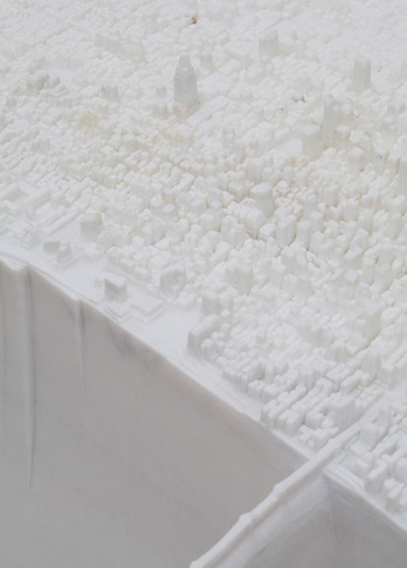 miniature manhattan made from marble by yutaka sone 3 Miniature Manhattan Made from One Piece of Marble