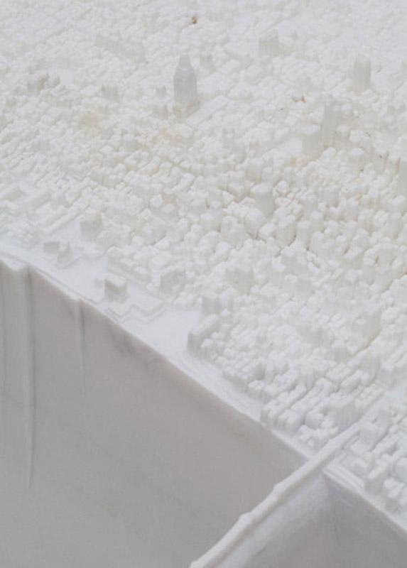 miniature manhattan made from marble by yutaka sone 3 Miniature Manhattan Made from One Piece of Marble