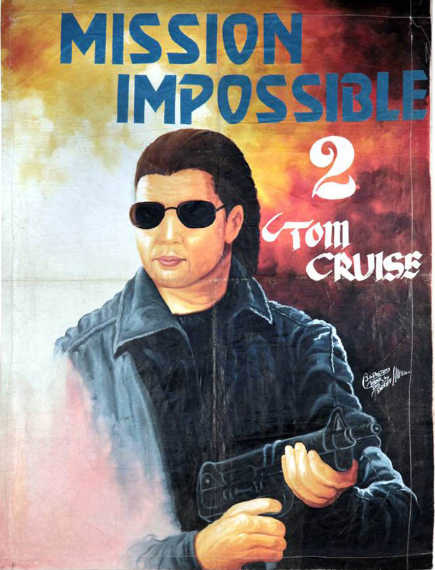 mission impossible 2 Bootleg Movie Posters from Ghana