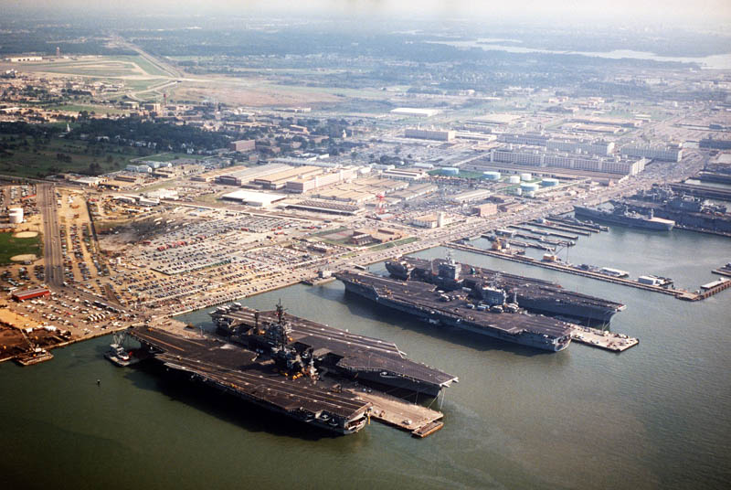 naval station norfolk 16 U.S. Air Force Bases and Naval Stations From Above