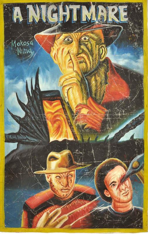 nightmare on elm street Bootleg Movie Posters from Ghana