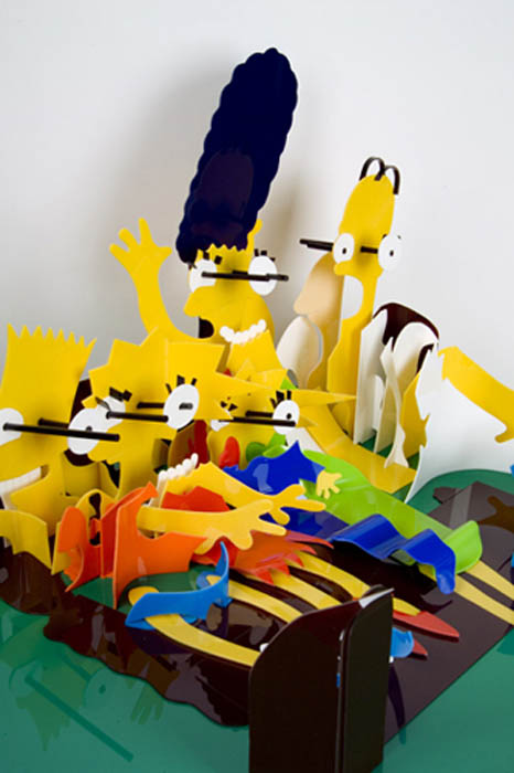 simpsons perspective sculptures james hopkins 1 Awesome Cartoon Perspective Sculptures by James Hopkins