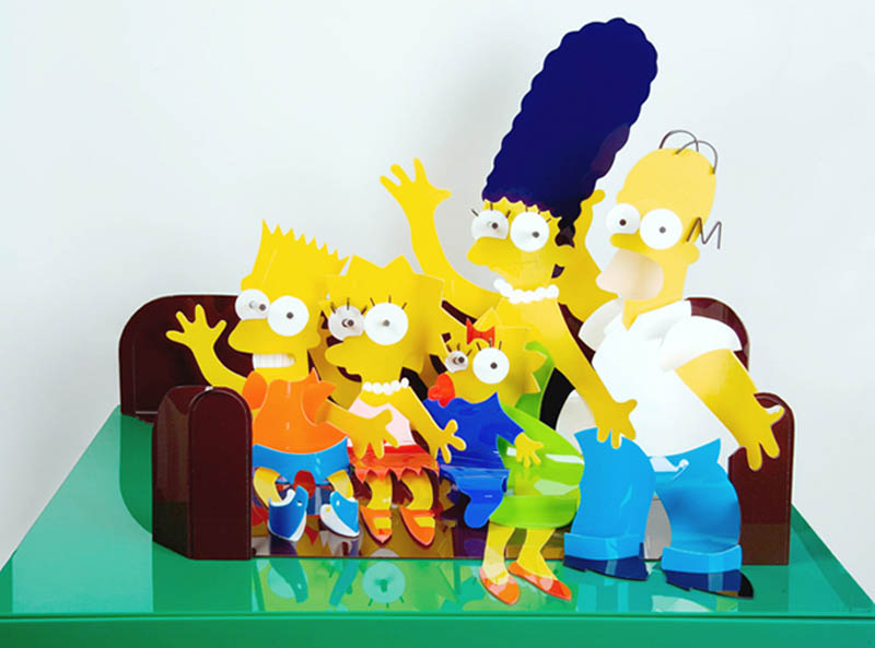simpsons perspective sculptures james hopkins 2 Awesome Cartoon Perspective Sculptures by James Hopkins