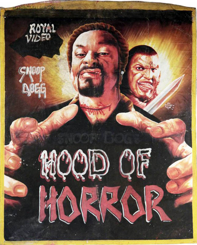 snoop dogg hood of horror Bootleg Movie Posters from Ghana
