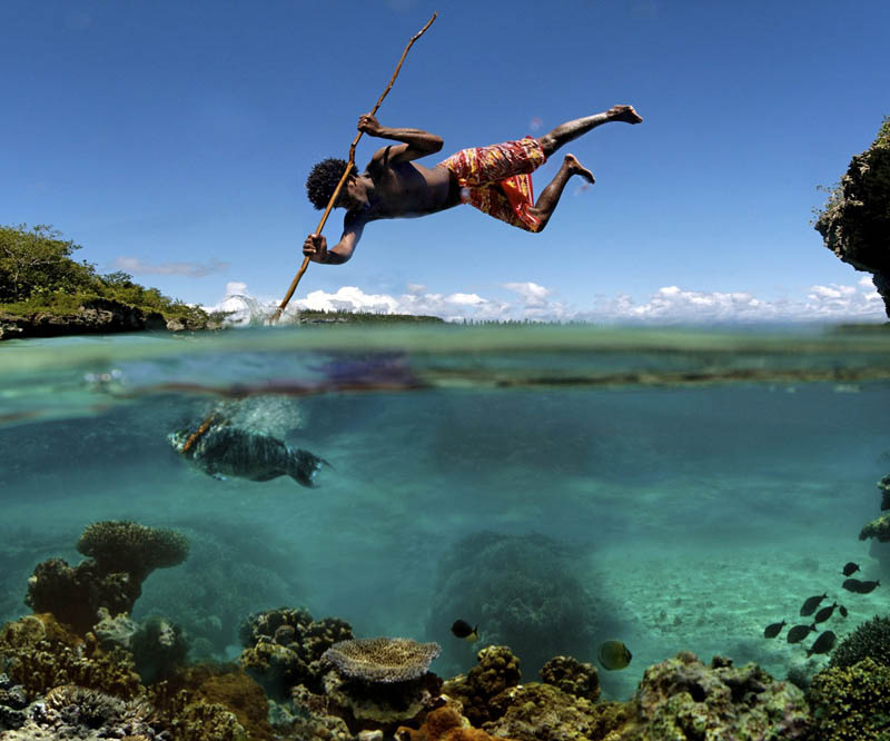 Picture of the Day: Spearfishing in New Caledonia