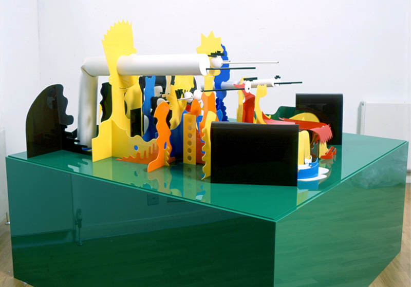 the simpsons perspective sculpture james hopkins 1 Awesome Cartoon Perspective Sculptures by James Hopkins