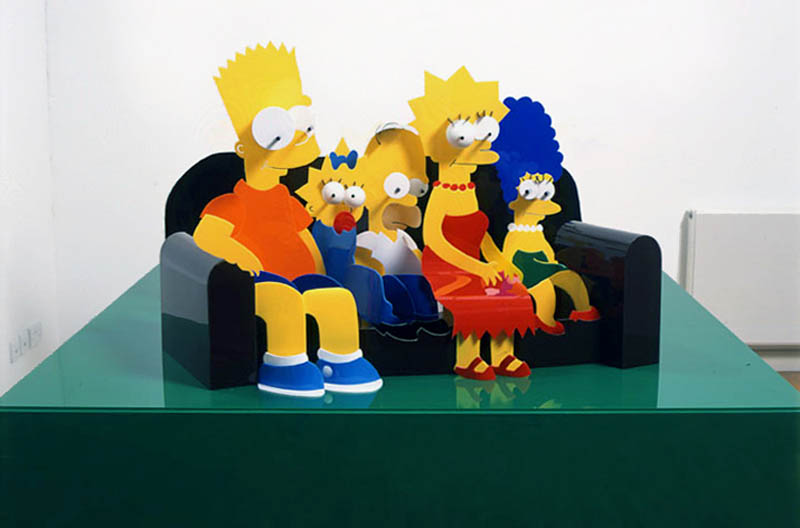 the simpsons perspective sculpture james hopkins 2 Awesome Cartoon Perspective Sculptures by James Hopkins