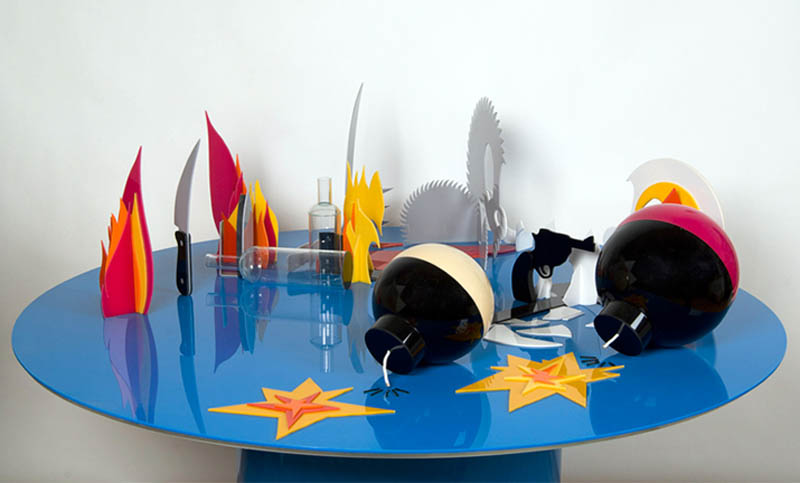 tom and jerry perspective sculpture james hopkins 2 Awesome Cartoon Perspective Sculptures by James Hopkins