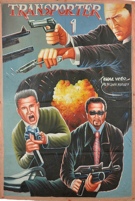 transporter Bootleg Movie Posters from Ghana
