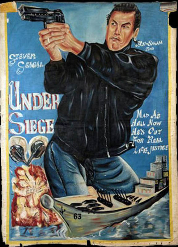 under siege Bootleg Movie Posters from Ghana