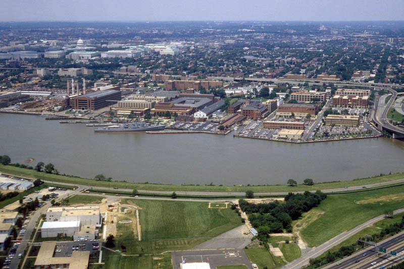 washington navy yard aerial view 1985 16 U.S. Air Force Bases and Naval Stations From Above