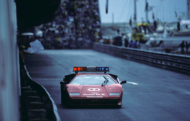 1983 monaco grand prix lamborghini countach safety car The Legendary Lamborghini Countach