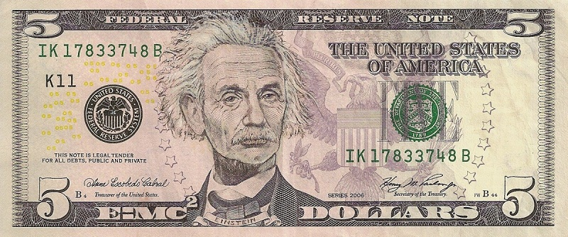 albert einstein dollar bill currency cash art This Artist Transforms US Banknotes Into Hilarious Portraits