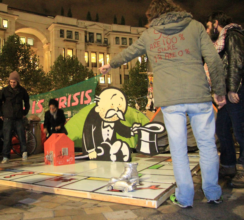 Picture of the Day: Banksy Strikes Occupy London Protests