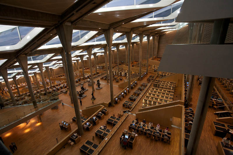 bibliotheca alexandrina 15 Beautiful Libraries Around the World
