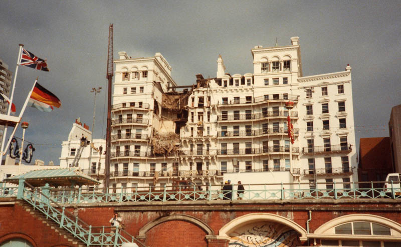 brighton grand hotel following bomb attack 1984 10 12 thatcher assassination attempt This Day In History   October 12th