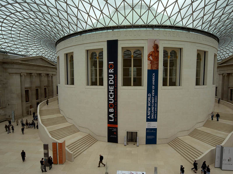 british museum great court 15 Beautiful Libraries Around the World