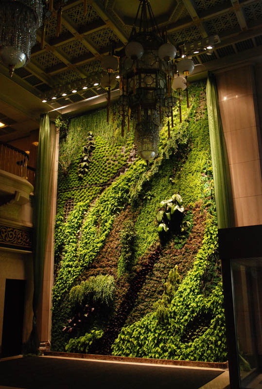 butterfly dance national theater taipei vertical wall garden 15 Incredible Vertical Gardens Around the World