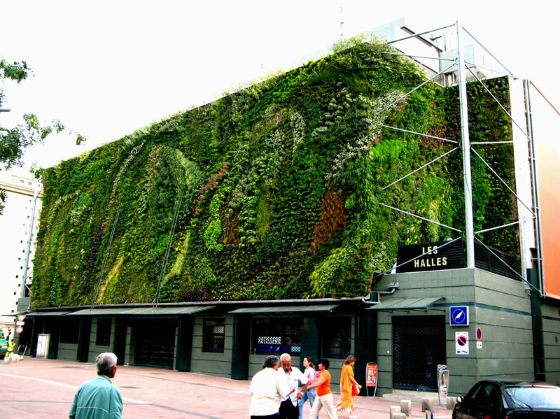 halles avignon 1 15 Incredible Vertical Gardens Around the World