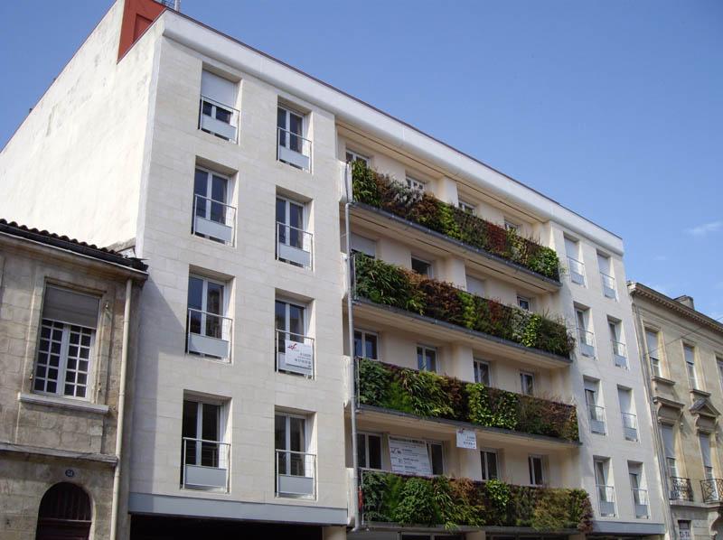 immeuble icf vertical wall garden 2 15 Incredible Vertical Gardens Around the World