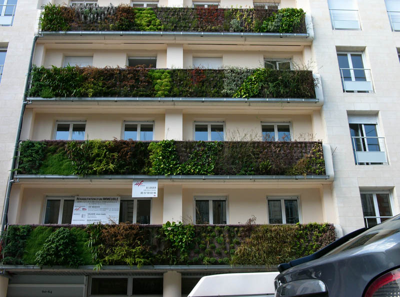 immeuble icf vertical wall garden 15 Incredible Vertical Gardens Around the World