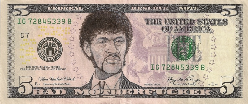 jules pulp fiction money paper cash are currency This Artist Transforms US Banknotes Into Hilarious Portraits