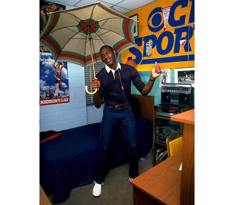 Michael Jordan In His Dorm Room