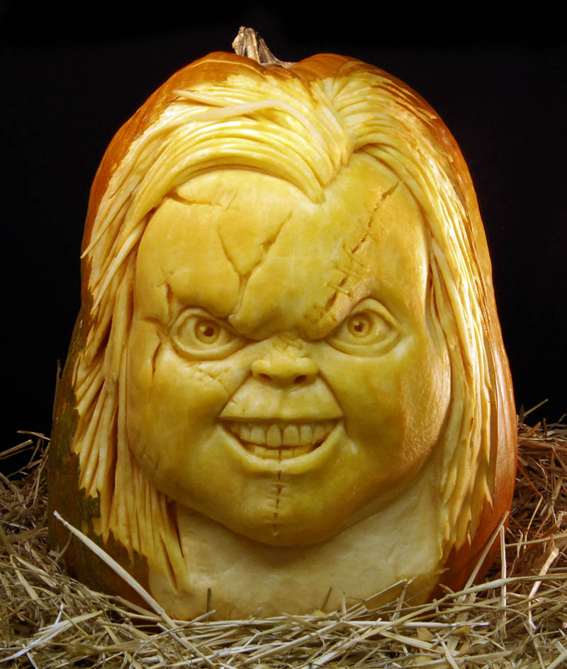 Jaw dropping pumpkin carvings by ray villafane
