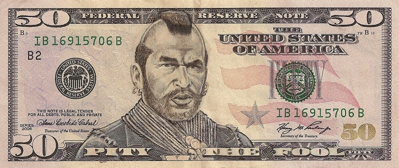mr t dollar bill currency cash art This Artist Transforms US Banknotes Into Hilarious Portraits
