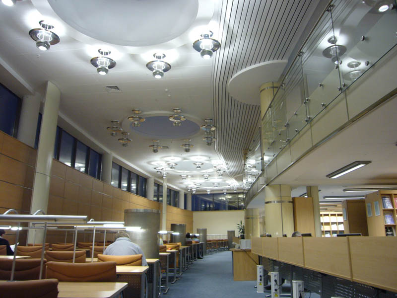 national library of belarus minsk interior 15 Beautiful Libraries Around the World