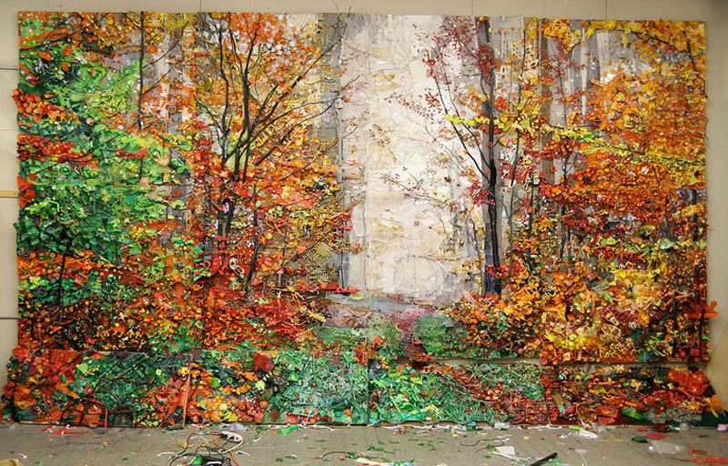 natural landscapes recreated from junk tom deininger 6 Idyllic Landscapes Recreated from Junk