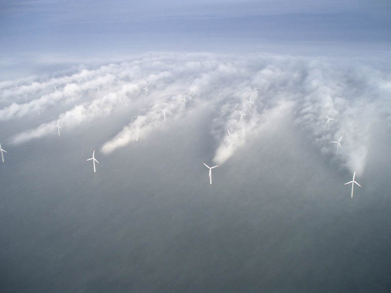 Picture of the Day: Amazing Turbine Clouds in the North Sea