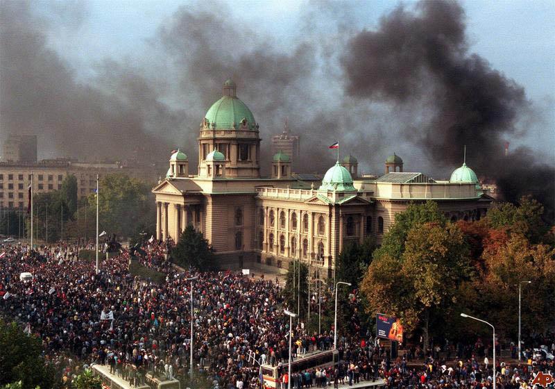overthrow slobodan milosevic bullzoder revolution This Day In History   October 5th