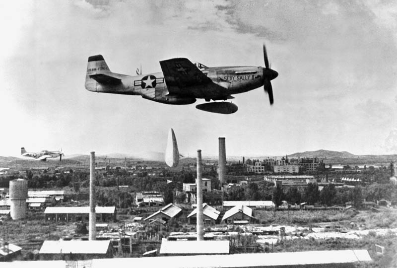 p 51 mustang bombs nkorea  with napalm This Day In History   October 26th