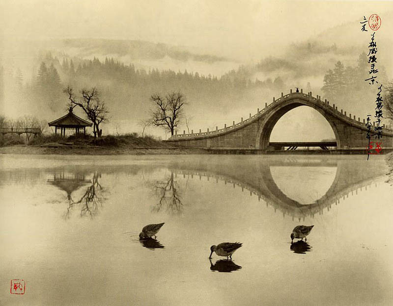 photographs that look like traditional chinese paintins dong hong oai asian pictorialism 1 Landscape Photos Created with the Human Body