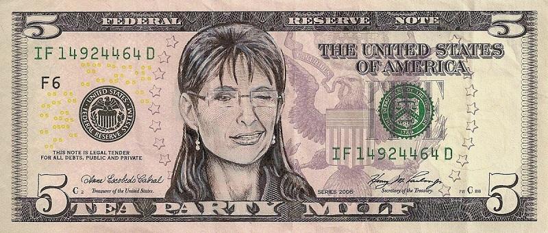 sarah palin dollar bill currency cash art This Artist Transforms US Banknotes Into Hilarious Portraits