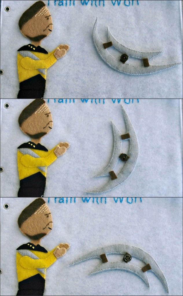 sewn felt star trek queit book for children 15 Awesome Star Trek Quiet Book for Kids