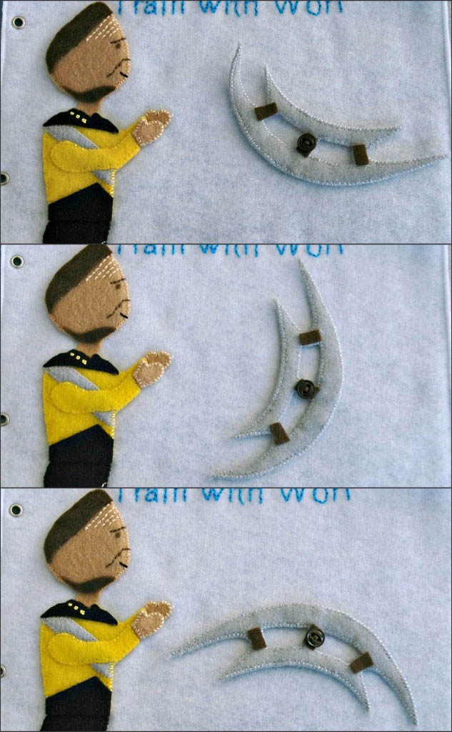 sewn felt star trek queit book for children 15 Awesome Star Trek Quiet Book for Kids