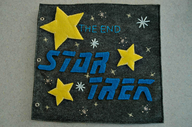 sewn felt star trek queit book for children 17 Awesome Star Trek Quiet Book for Kids
