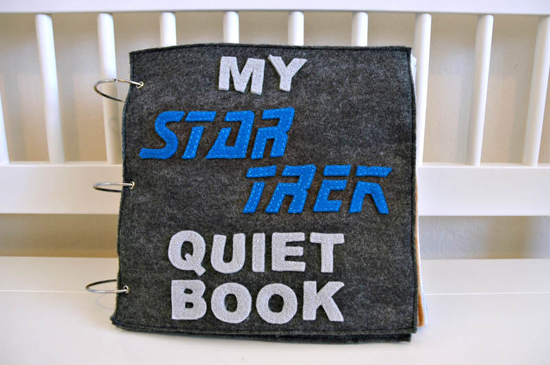 sewn felt star trek queit book for children 19 Awesome Star Trek Quiet Book for Kids