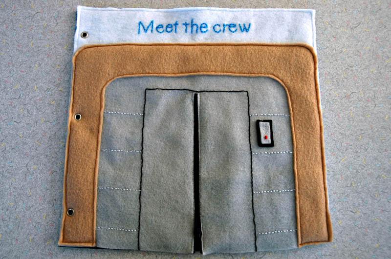 sewn felt star trek queit book for children 2 Awesome Star Trek Quiet Book for Kids