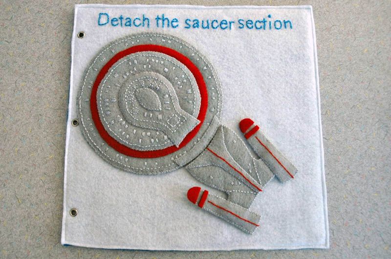 sewn felt star trek queit book for children 9 Awesome Star Trek Quiet Book for Kids