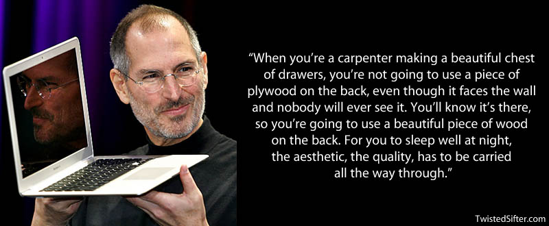 steve jobs carpenter plywood quote 20 Most Inspirational Quotes by ...